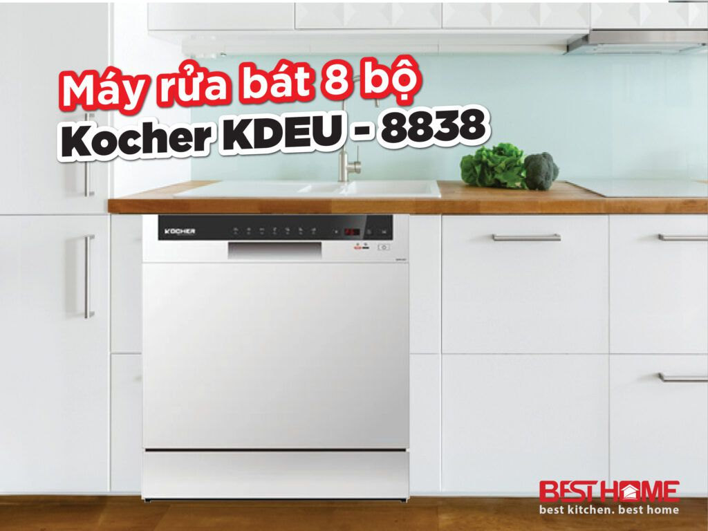 Máy rửa bát 8 bộ Kocher KDEU-8838 xuất xứ Malaysia