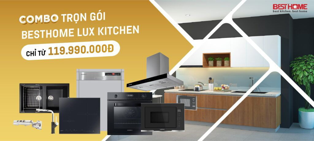 Combo tủ bếp hạng sang BESTHOME LUX KITCHEN 9 in 1